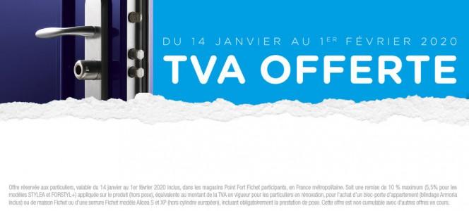 DES LE 14 JANVIER 2020 : TVA OFFERTE